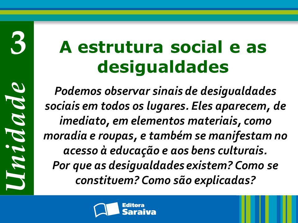 A estrutura social e as desigualdades
