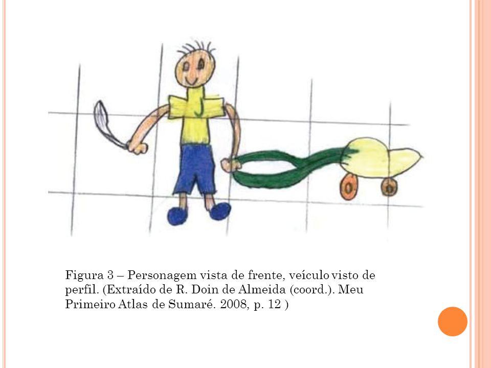 Figura 3 – Personagem vista de frente, veículo visto de perfil