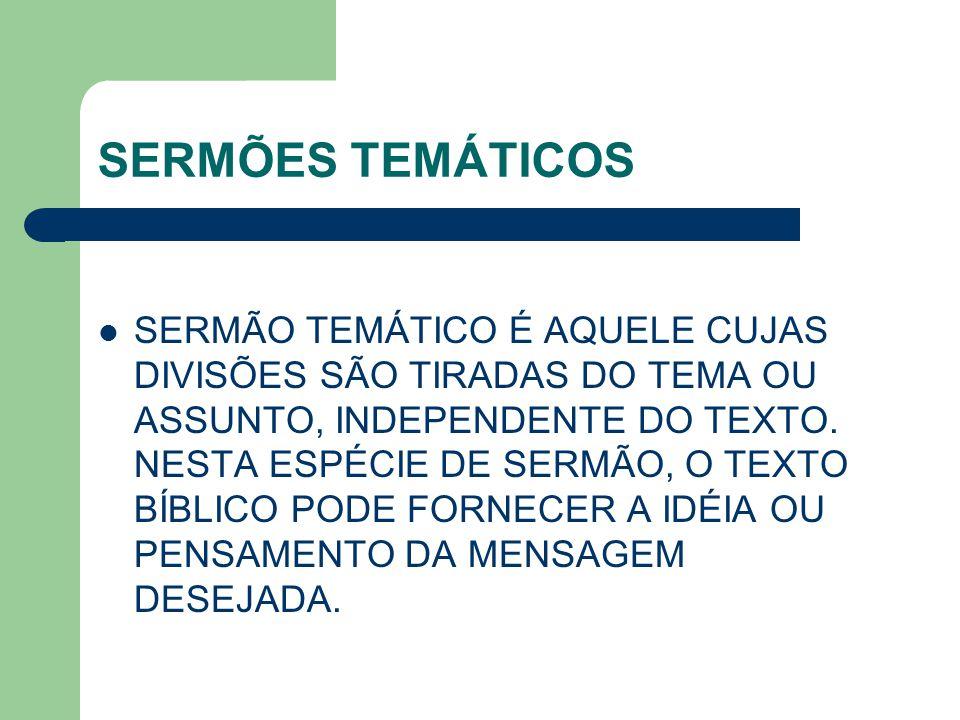SERMÕES TEMÁTICOS