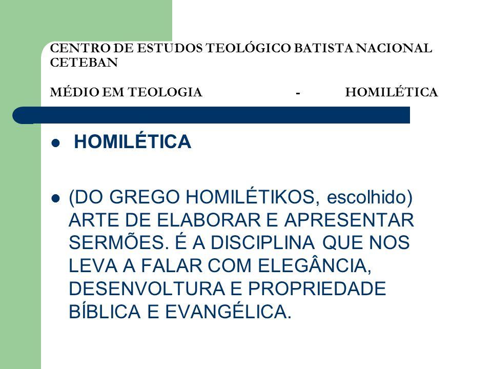 CENTRO DE ESTUDOS TEOLÓGICO BATISTA NACIONAL CETEBAN MÉDIO EM TEOLOGIA