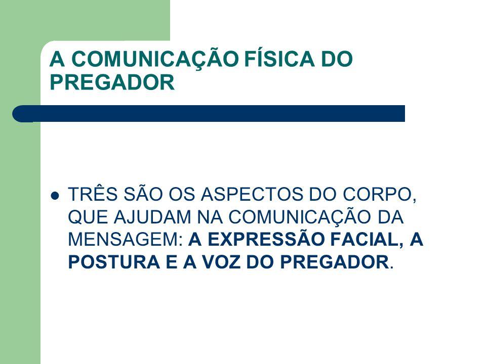 A COMUNICAÇÃO FÍSICA DO PREGADOR