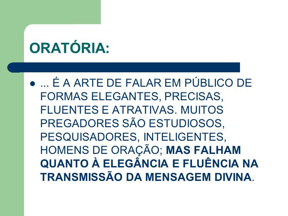 ORATÓRIA: