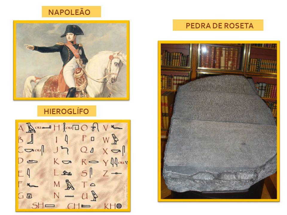 NAPOLEÃO PEDRA DE ROSETA HIEROGLÍFO