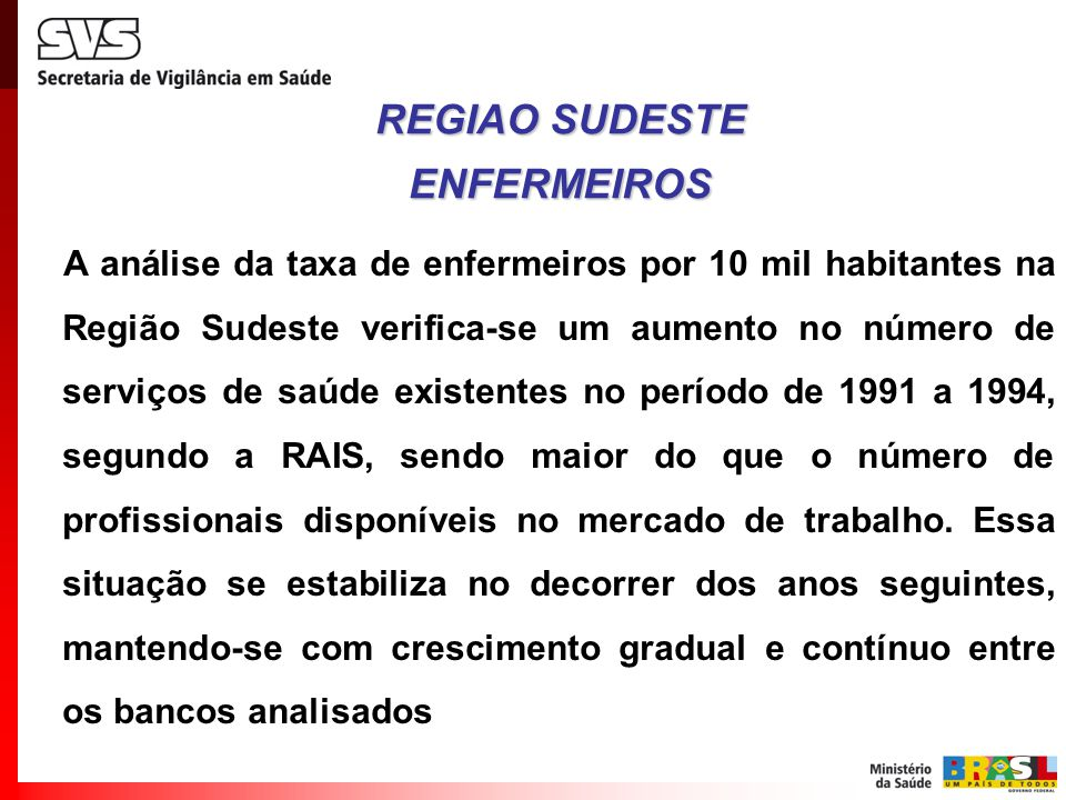 REGIAO SUDESTE ENFERMEIROS