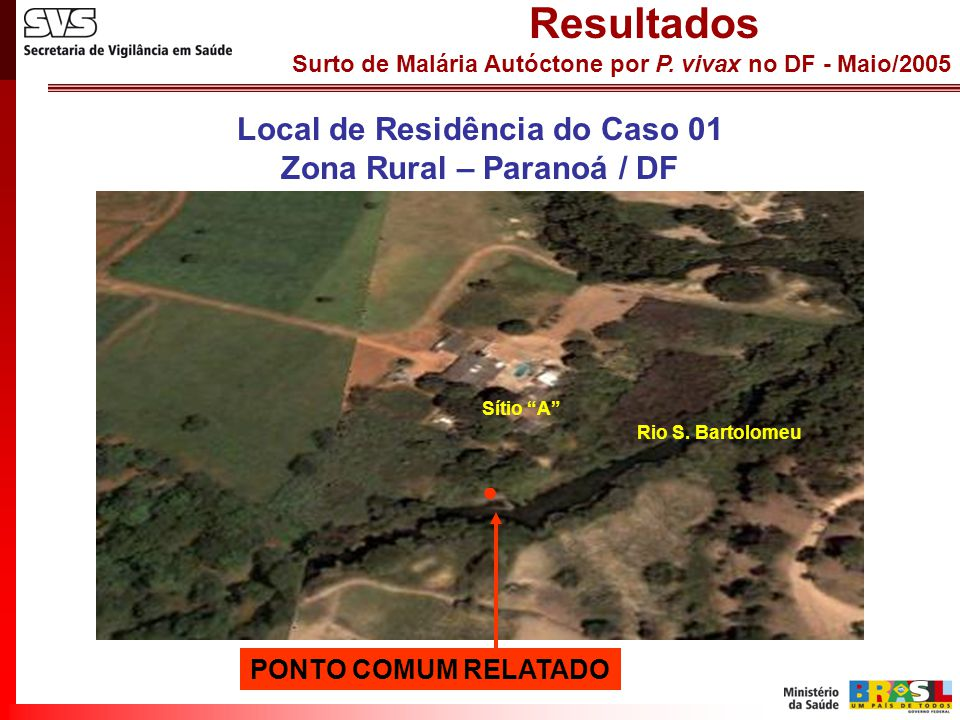Local de Residência do Caso 01 Zona Rural – Paranoá / DF