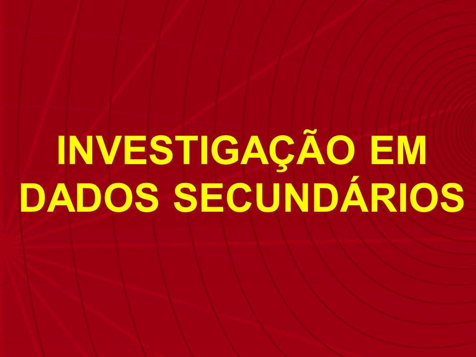 INVESTIGAÇÃO EM DADOS SECUNDÁRIOS