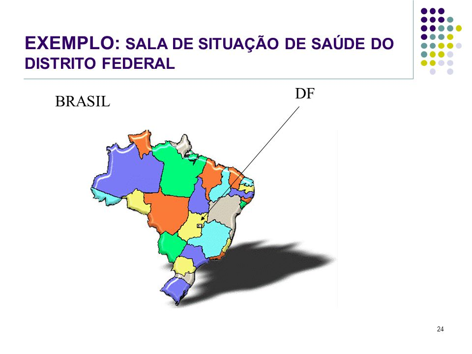 EXEMPLO: SALA DE SITUAÇÃO DE SAÚDE DO DISTRITO FEDERAL