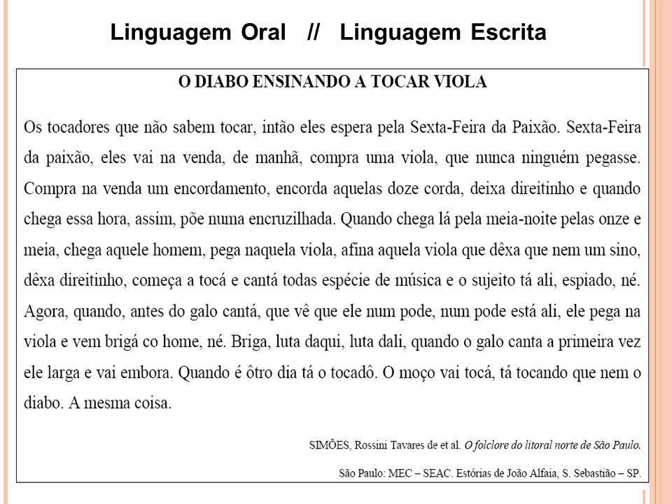 Linguagem Oral // Linguagem Escrita