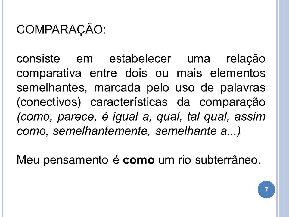 COMPARAÇÃO: