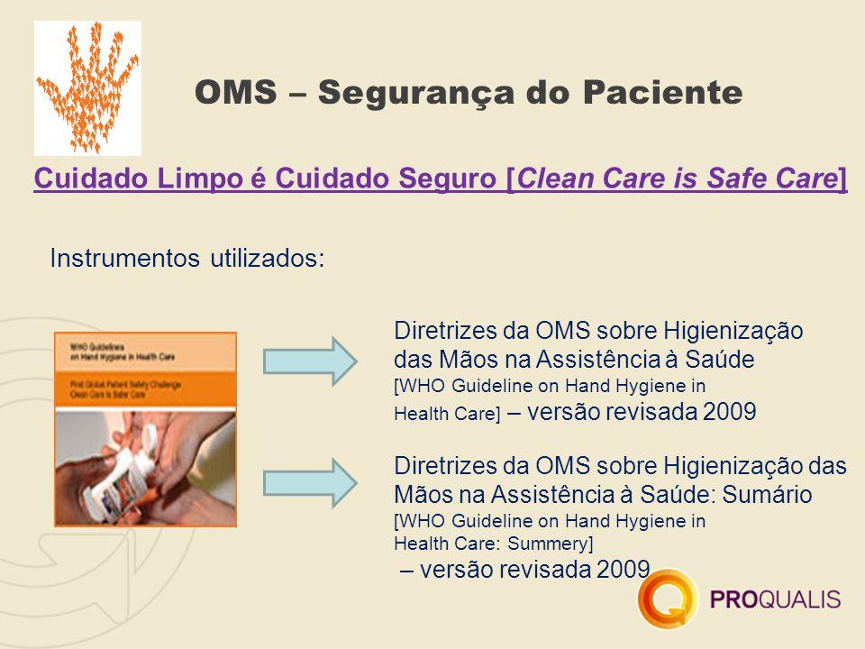 OMS – Segurança do Paciente