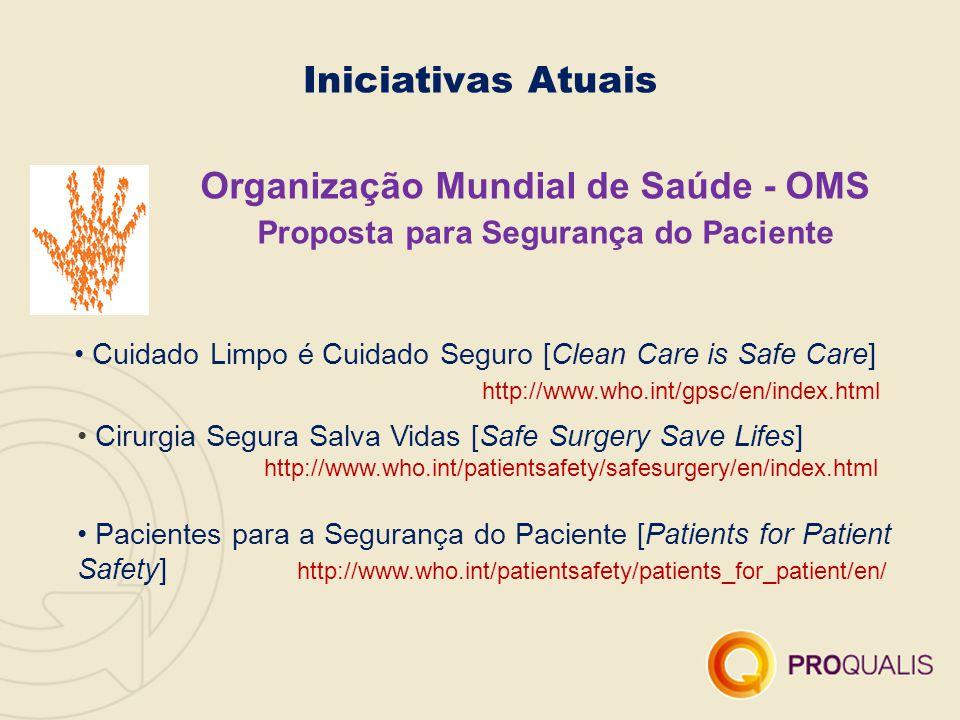 Organização Mundial de Saúde - OMS Proposta para Segurança do Paciente