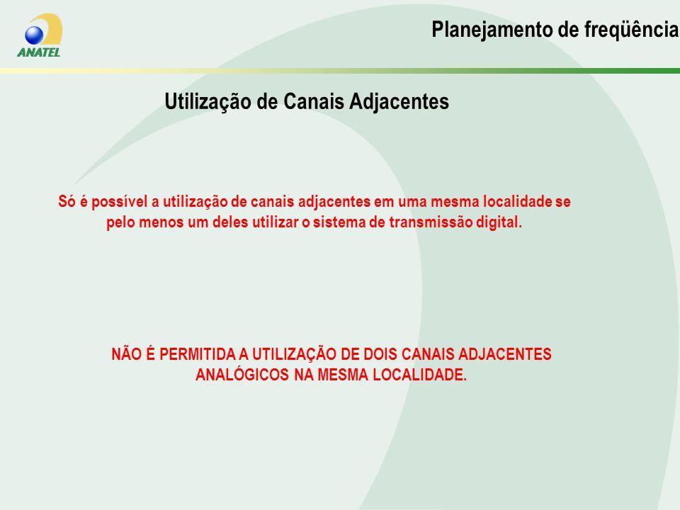 Planejamento de Frequencias Utilização de Canais Adjacentes