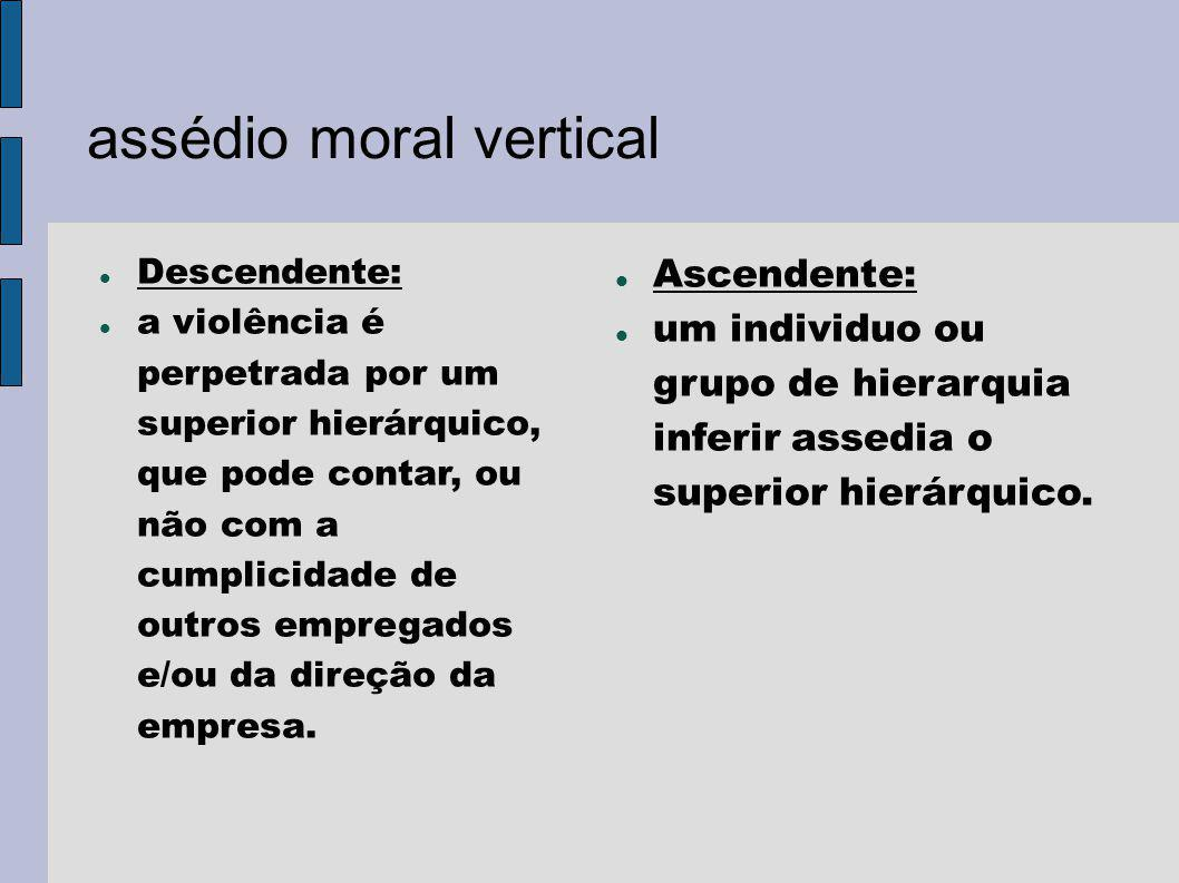 assédio moral vertical