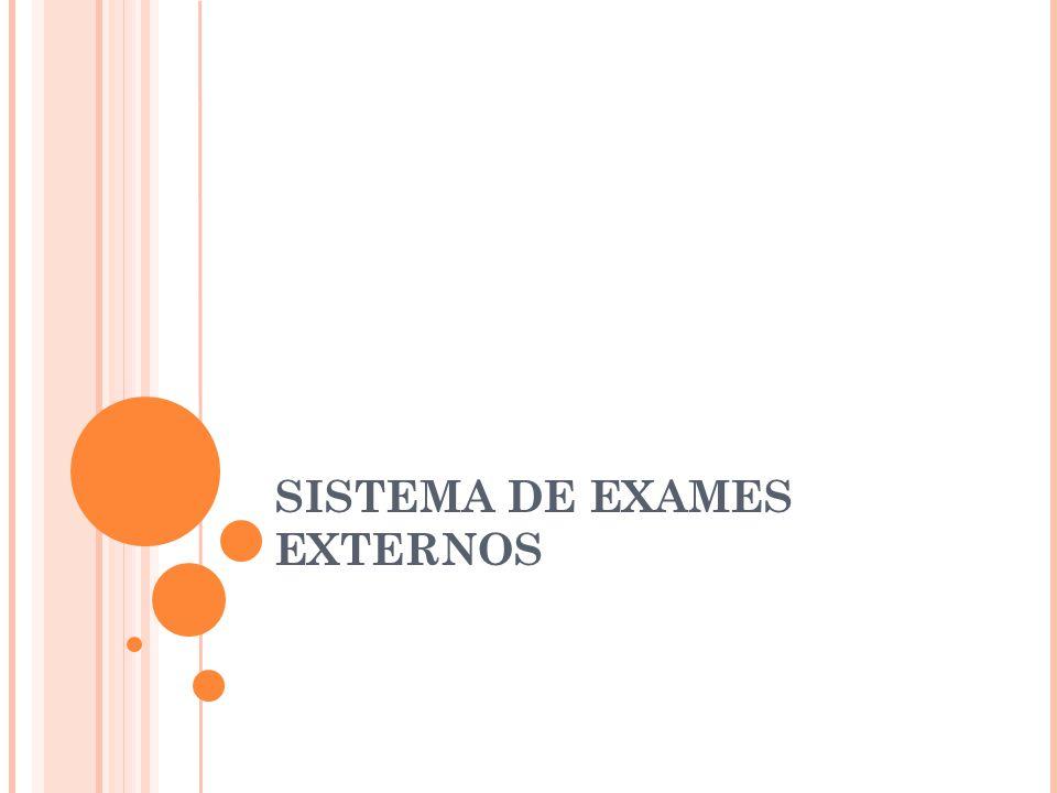 SISTEMA DE EXAMES EXTERNOS
