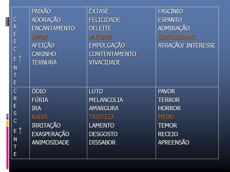 PAIXÃO ADORAÇÃO ENCANTAMENTO AMOR AFEIÇÃO CARINHO TERNURA ÊXTASE