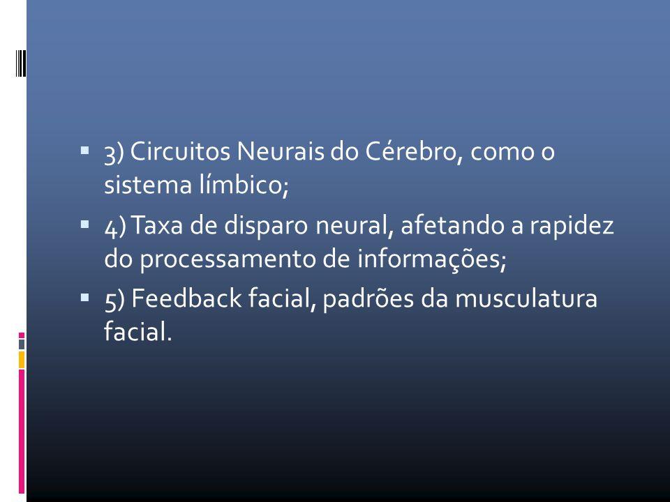 3) Circuitos Neurais do Cérebro, como o sistema límbico;