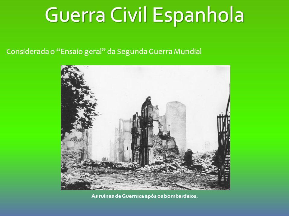 As ruínas de Guernica após os bombardeios.
