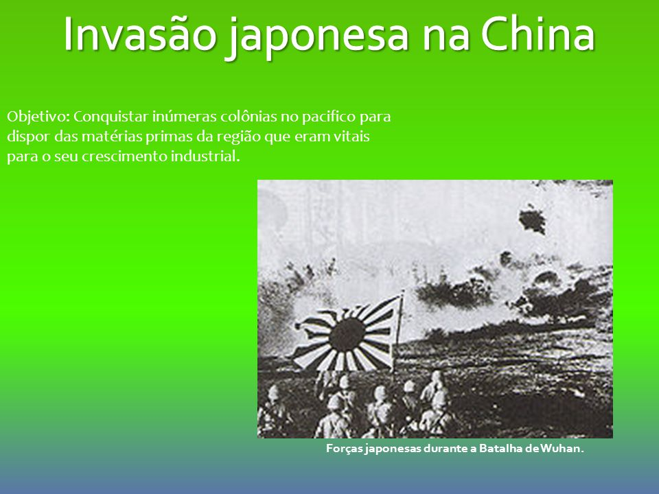Invasão japonesa na China