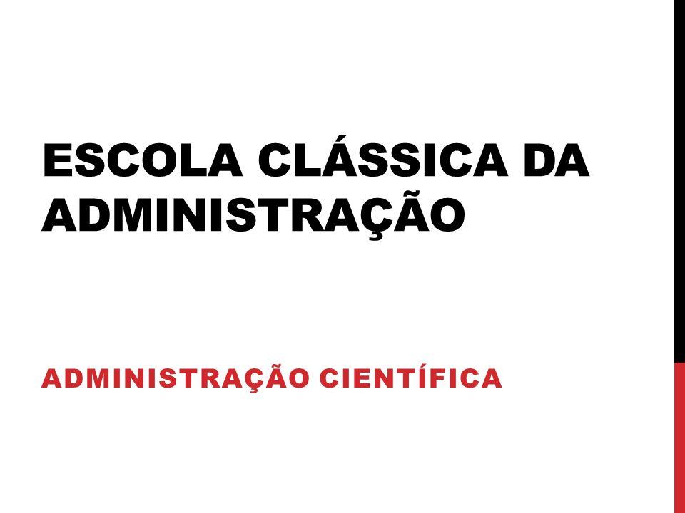 Escola Clássica da Administração