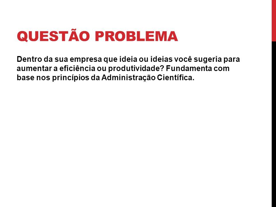 QUESTÃO PROBLEMA