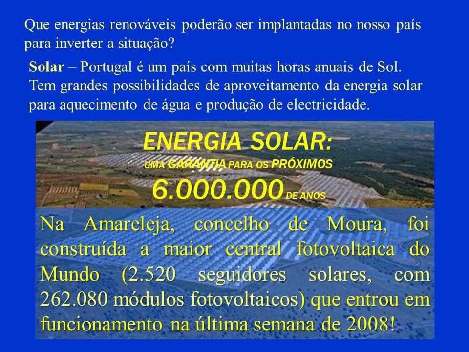 ENERGIA SOLAR: UMA GARANTIA PARA OS PRÓXIMOS 6.000.000 DE ANOS