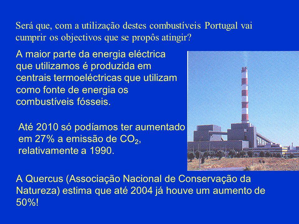 Será que, com a utilização destes combustíveis Portugal vai cumprir os objectivos que se propôs atingir