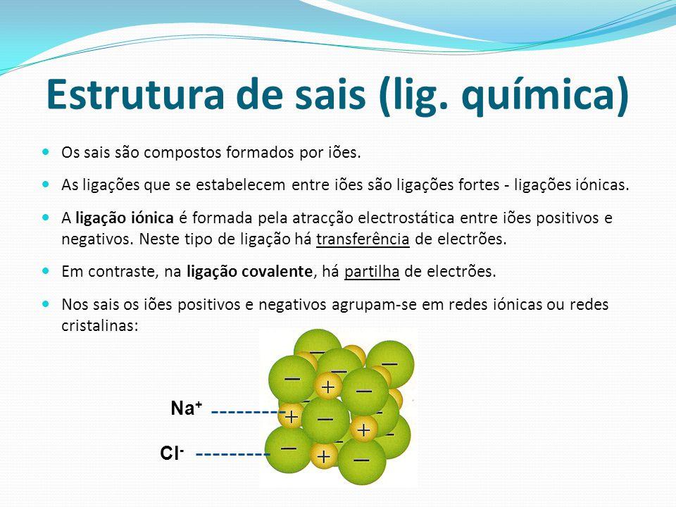 Estrutura de sais (lig. química)