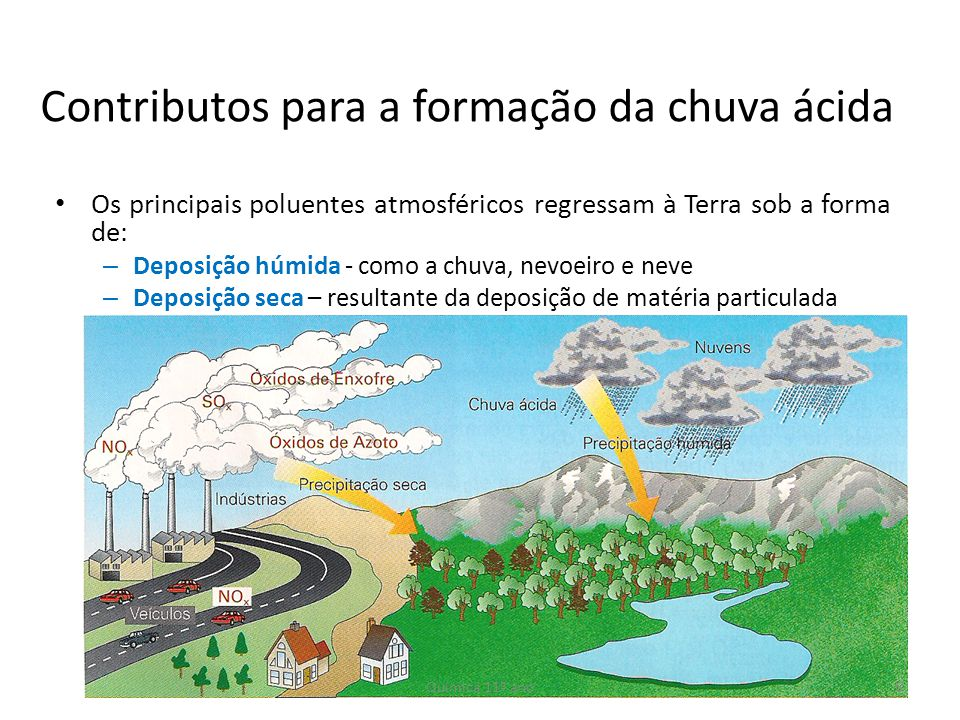 Contributos para a formação da chuva ácida