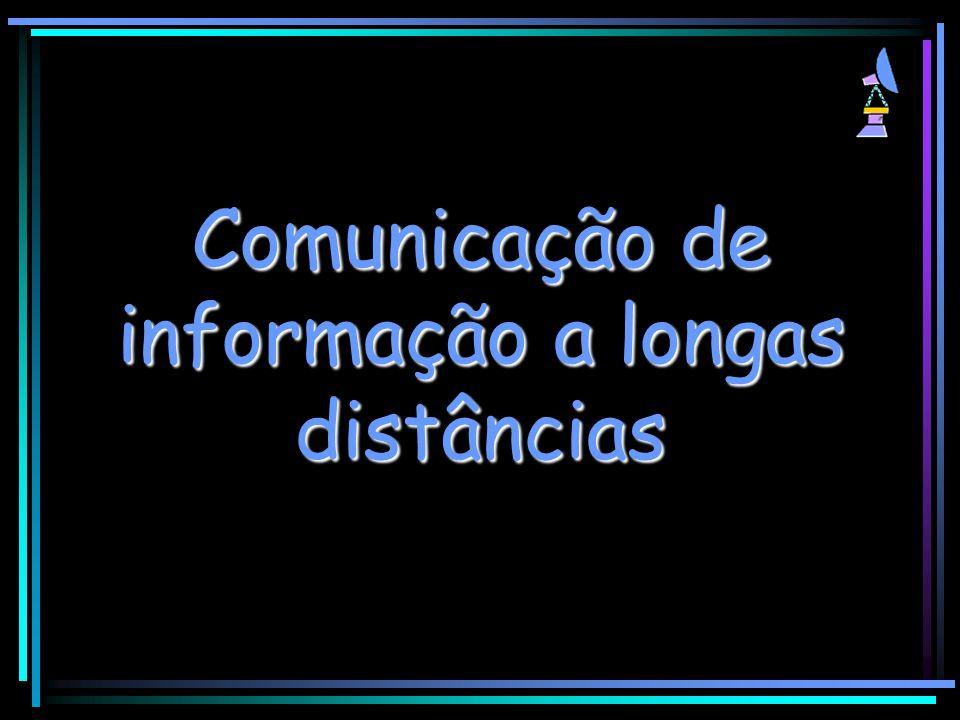 Comunicação de informação a longas distâncias