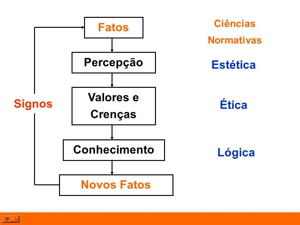 Fatos Percepção Estética Valores e Crenças Signos Ética Conhecimento