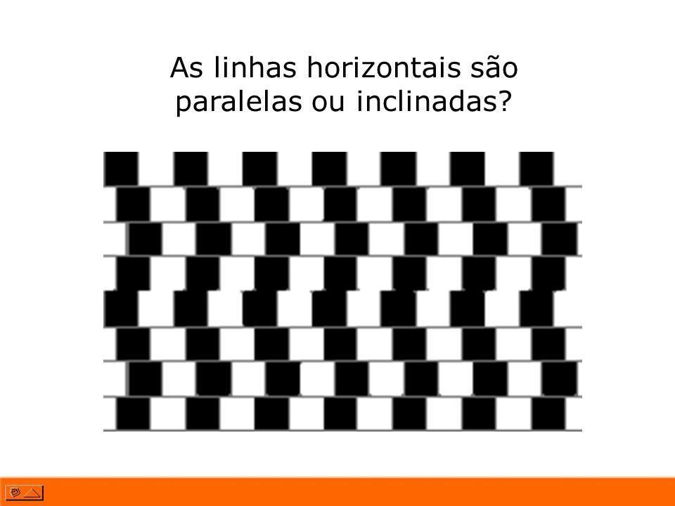 As linhas horizontais são paralelas ou inclinadas