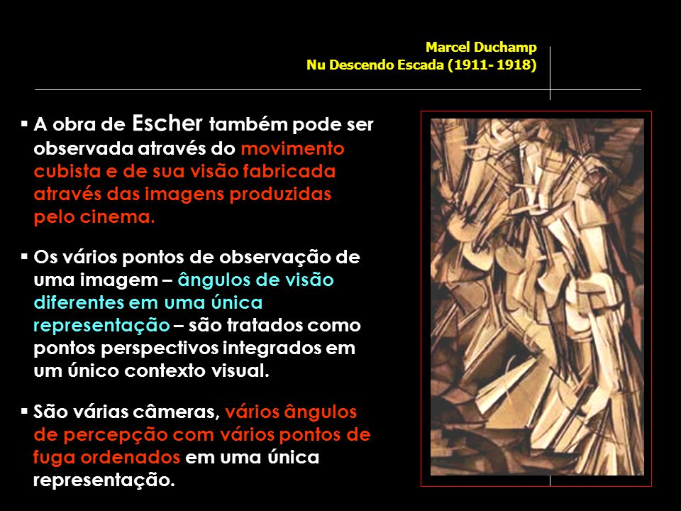 Marcel Duchamp Nu Descendo Escada (1911- 1918)