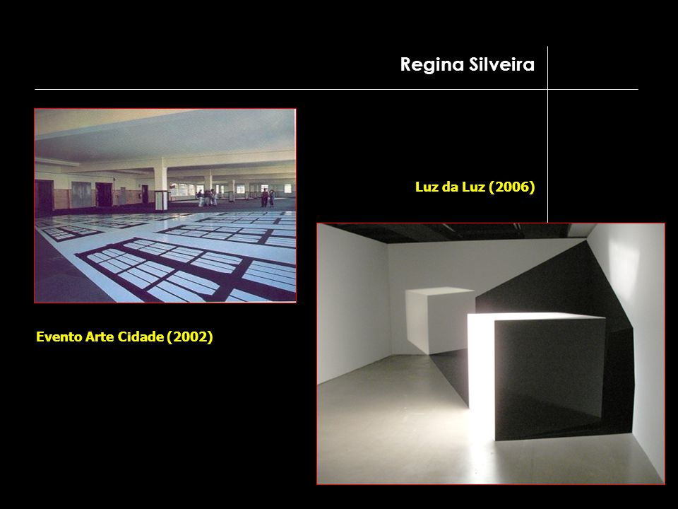 Regina Silveira Luz da Luz (2006) Evento Arte Cidade (2002)