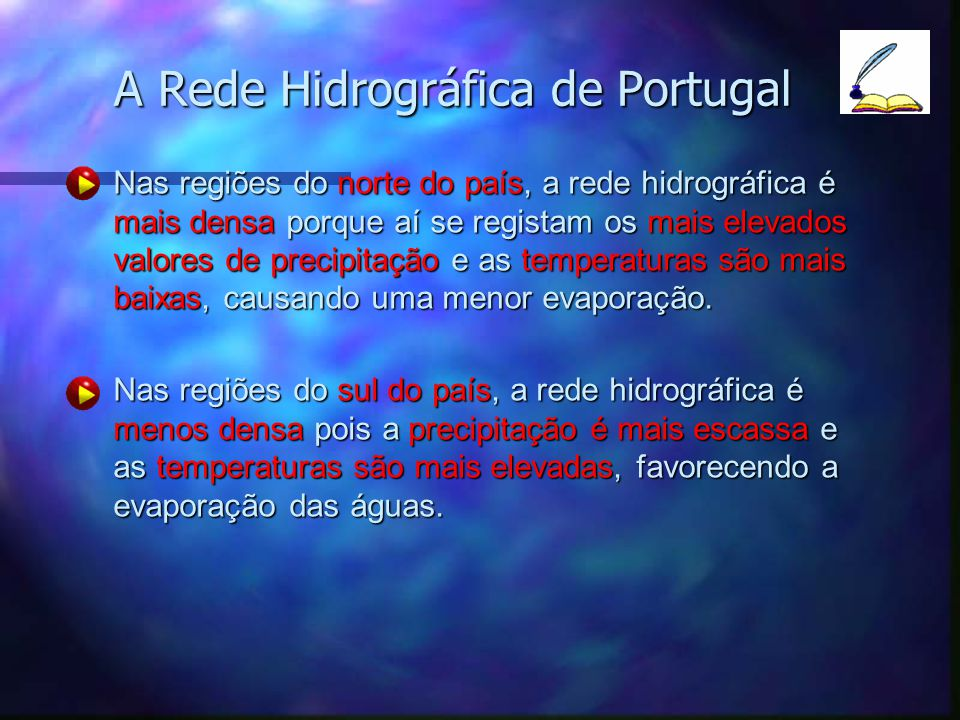 A Rede Hidrográfica de Portugal