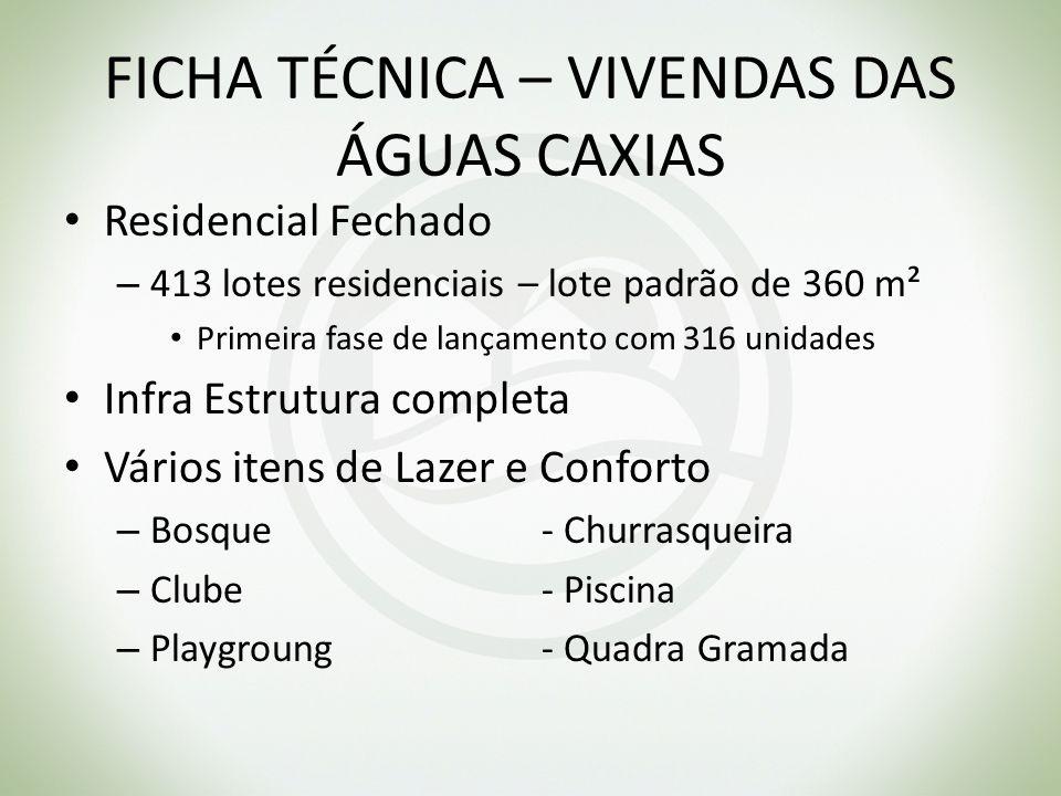 FICHA TÉCNICA – VIVENDAS DAS ÁGUAS CAXIAS