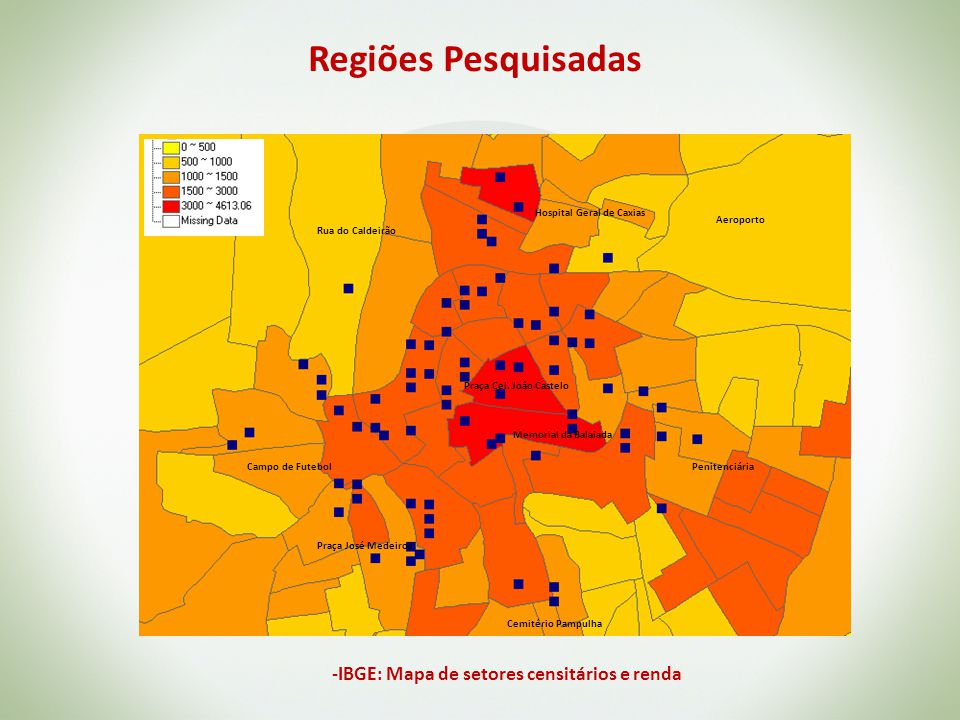 -IBGE: Mapa de setores censitários e renda