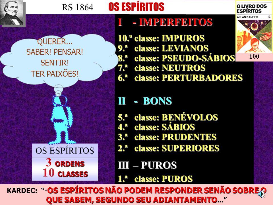 3 ORDENS 10 CLASSES OS ESPÍRITOS III – PUROS RS 1864