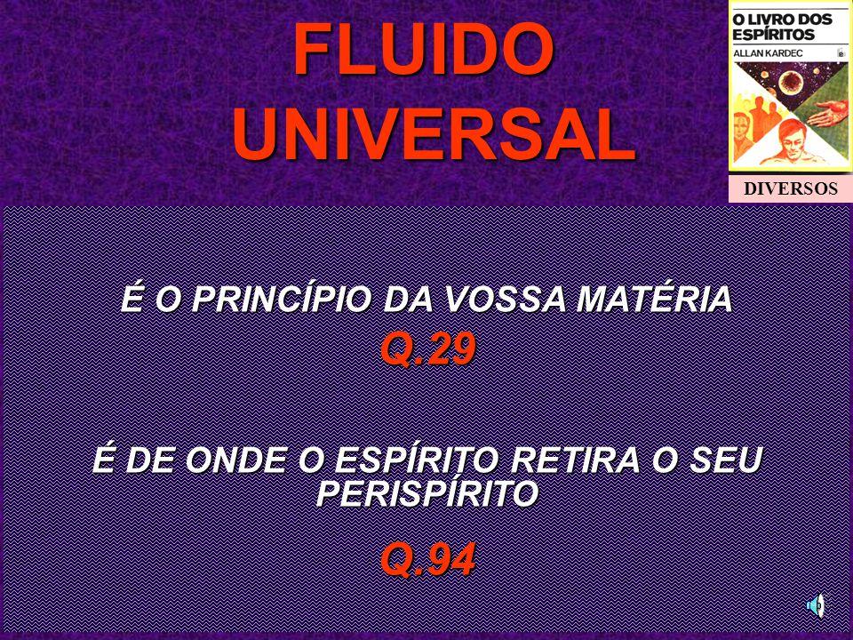 FLUIDO UNIVERSAL Q.29 Q.94 É O PRINCÍPIO DA VOSSA MATÉRIA