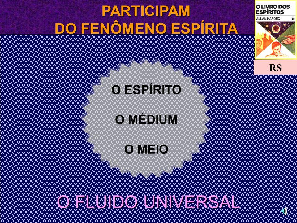 PARTICIPAM DO FENÔMENO ESPÍRITA