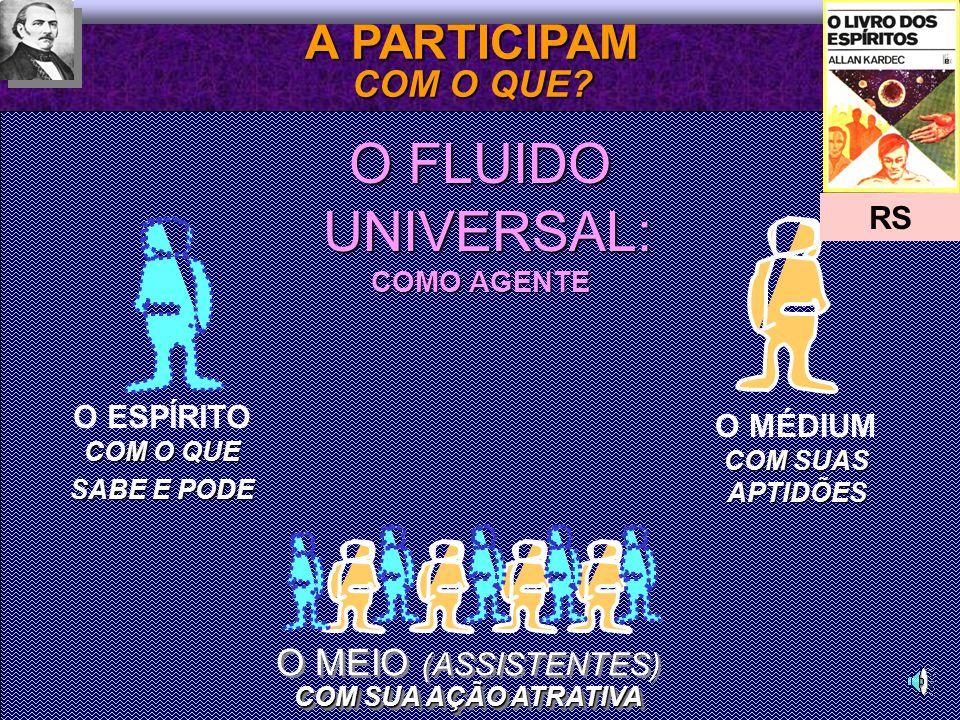 O FLUIDO UNIVERSAL: A PARTICIPAM COM O QUE