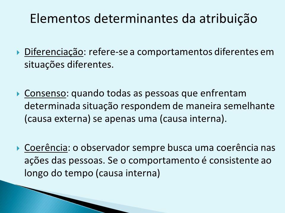 Elementos determinantes da atribuição