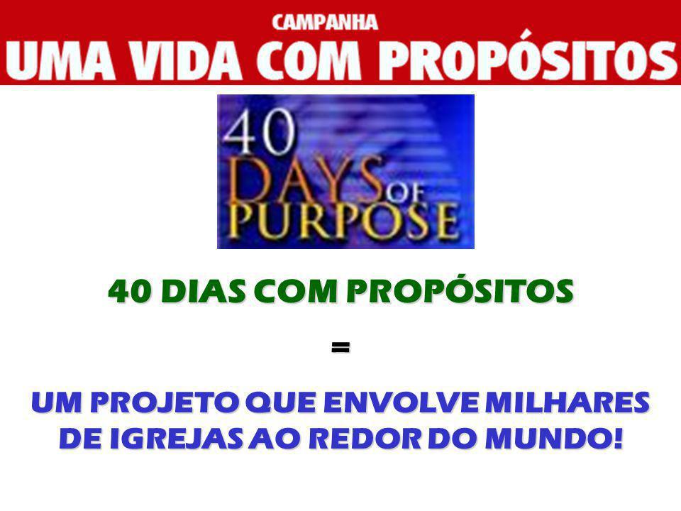 UM PROJETO QUE ENVOLVE MILHARES DE IGREJAS AO REDOR DO MUNDO!