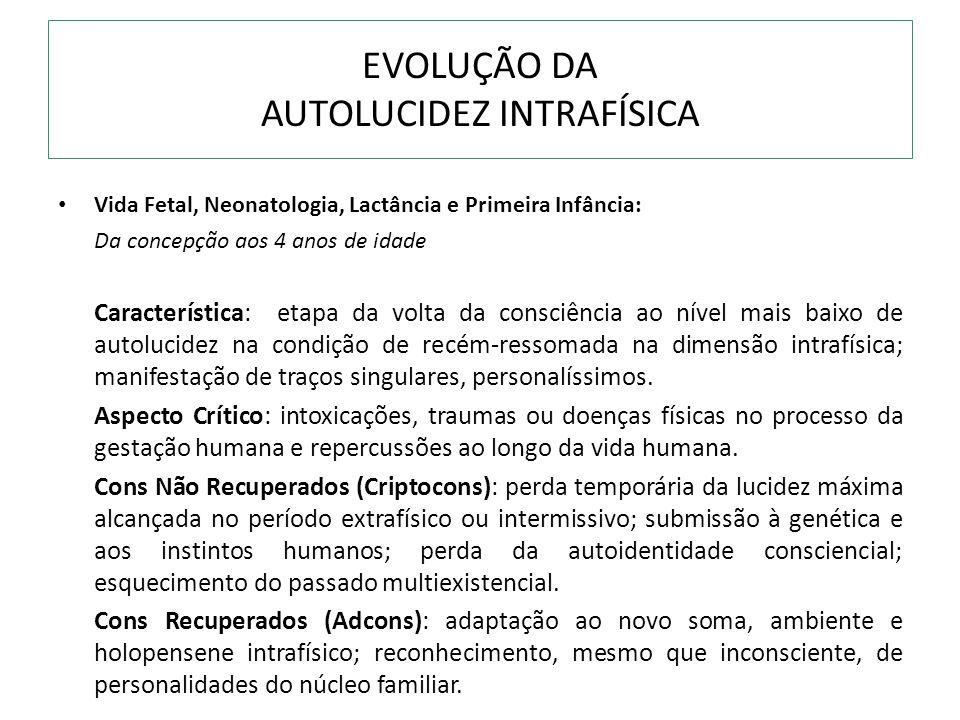 EVOLUÇÃO DA AUTOLUCIDEZ INTRAFÍSICA