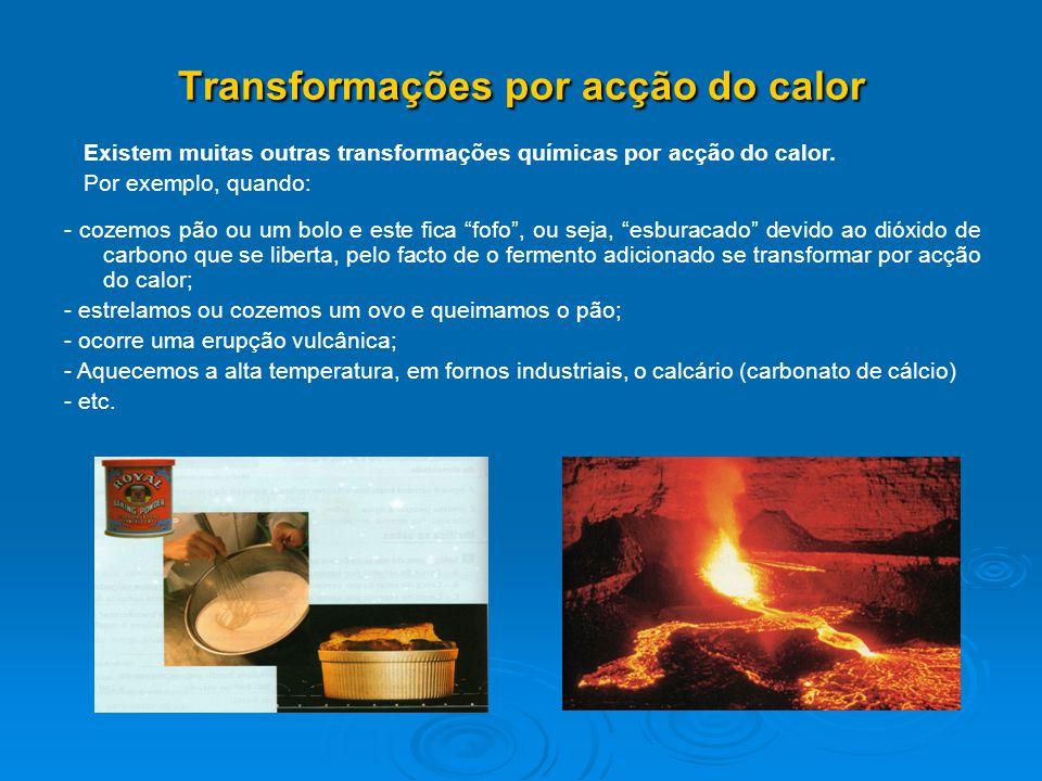 Transformações por acção do calor