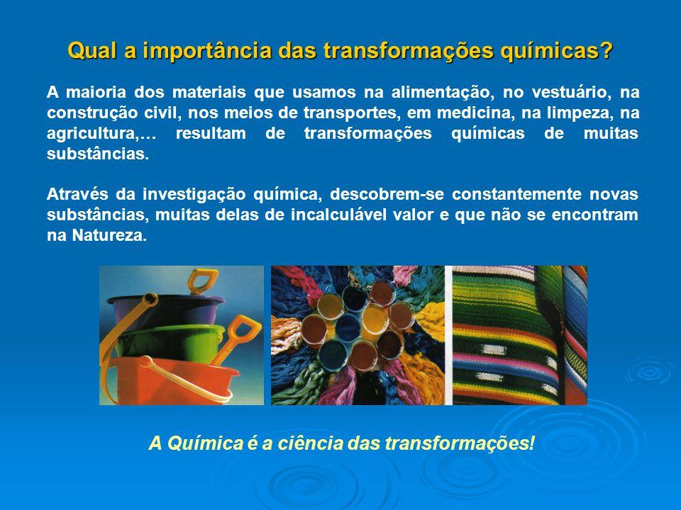 Qual a importância das transformações químicas