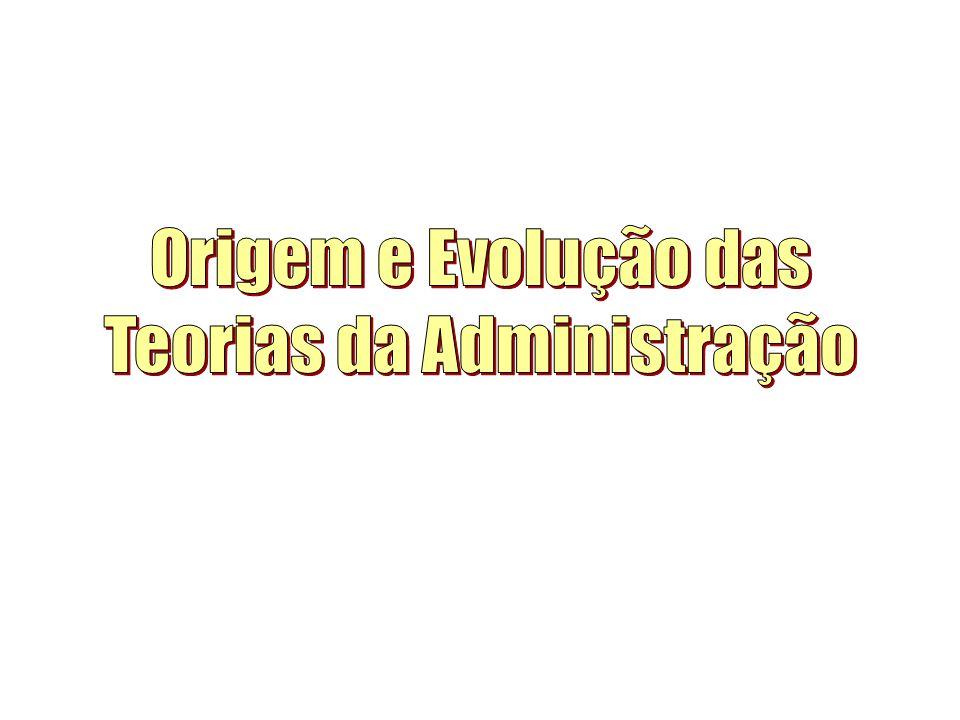 Origem e Evolução das Teorias da Administração