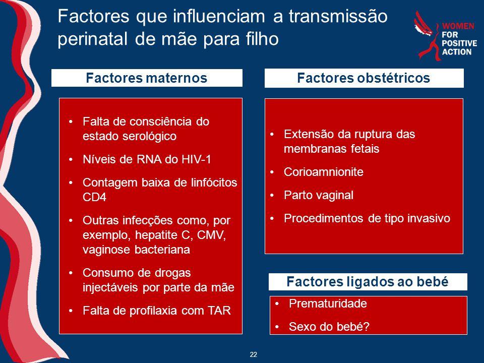 Factores que influenciam a transmissão perinatal de mãe para filho