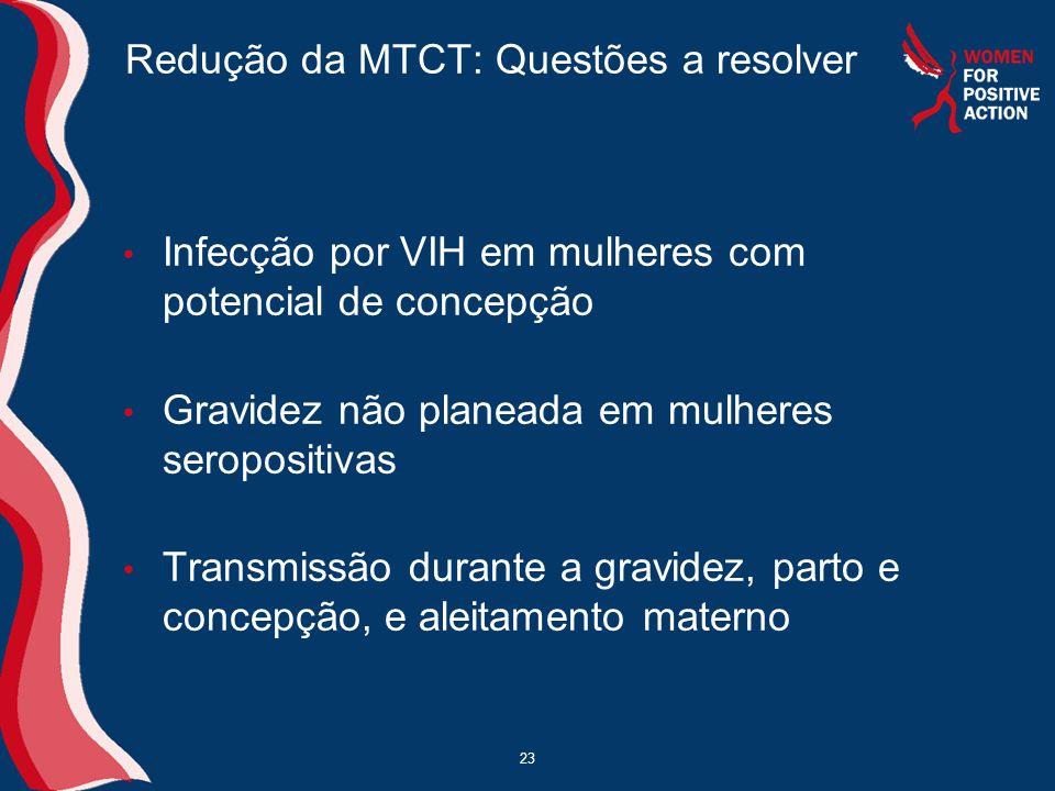 Redução da MTCT: Questões a resolver