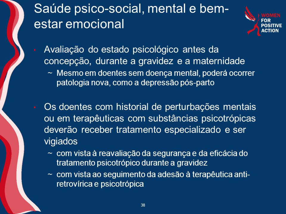 Saúde psico-social, mental e bem-estar emocional