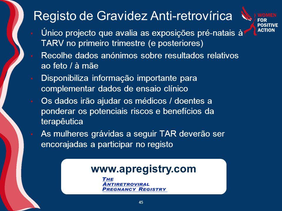 Registo de Gravidez Anti-retrovírica